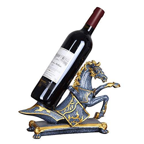 NNBD Estante para Vino Pintado a Mano Estante para Botellas de Vino Estante para Estatua Esculturas Resina para el hogar Escultura Creativa Estante para Vino de Caballo Estante