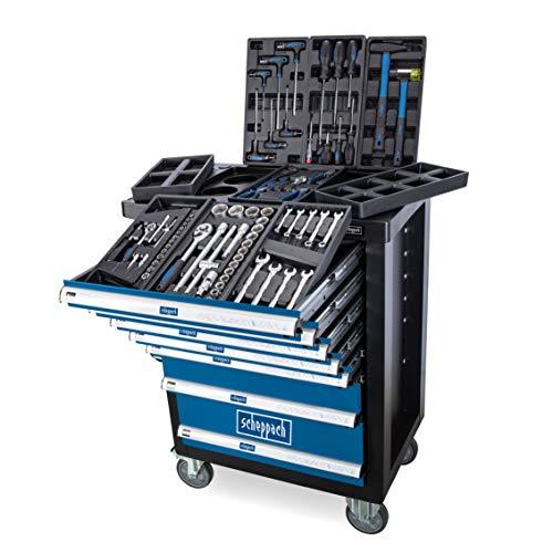 Scheppach Werkstattwagen TW1100, mit 7 Schubladen, inklusive 70-teiligem Werkzeugset