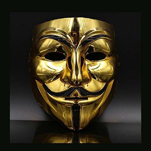 CXZC Erschreckende Halloween-Maske Cosplay Goldenes Licht lächelnd Unisex Pharao-Maske für Halloween Dance Party