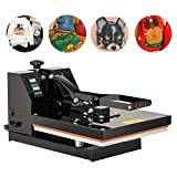 SUNCOO 15X15 Heat Press, T Shirt Printing Machine, Digital Heat Transfer Industrial Quality Power Press Machine, 1200W Sublimation Clamshell Heat Press for T Shirts, Mouse Pads, Tablecloth