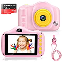 Voltenick Kids' Digital Camera with 32GB SD Card (Pink)