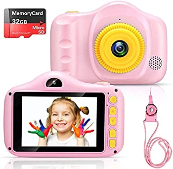 Voltenick Kids' Digital Camera with 32GB SD Card