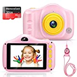 Voltenick Kids Camera for Girls Toys 3.5Inch 1080P HD Dual Lens Children Digital Cameras Birthday for Age 3-12 Year Old Girls Boys Toddlers with 32GB SD Card (Pink)