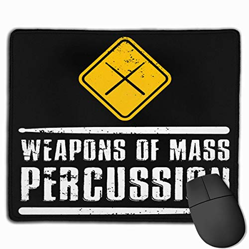 Weapons of Mass Percussion Drumstick Drum Player Mouse Pad Tappetino per mouse da ufficio antiscivolo Tappetino per mouse in gomma rettangolare