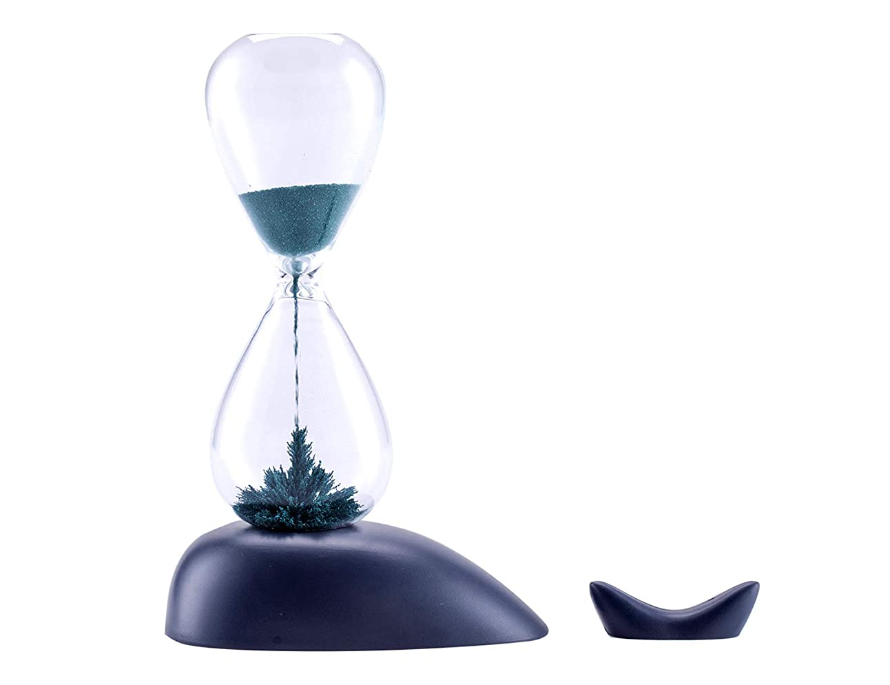 噂案件人道的MULU 砂時計ガラス磁気ブルークジラ砂時計1分計 置物?オブジェ プレゼント17×17×7cm