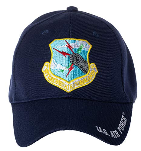 Officially Licensed US Air Force Strategic Air Command Embroidered Adjustable Baseball Cap Blue