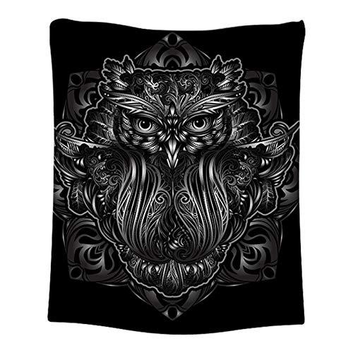 N/A Impresión 3D de tapices Tapiz de búho Abstracto Oscuro Mandala Tapiz para Colgar en la Pared Toalla Decorativa para el hogar Tapete Manta de Dormitorio Decoración del hogar