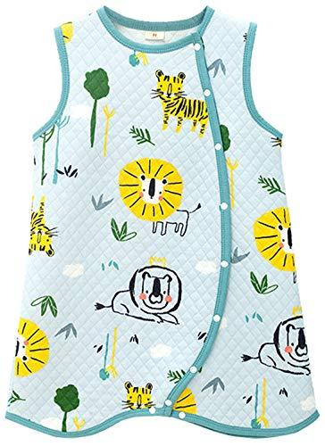 Chilsuessy Baby Schlafsack mit Füßen 1.5 Tog Vierjahreszeiten Kleine Kinder Ärmellos Schlafanzug Strampler mit Füßen für Jungen und Mädchen, Waldtiere, 90/Baby Höhe 75-85cm