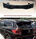 LSYBB ABS Spoiler Trasero ModificacióN del ala Trasera para Renault Clio Captur Espace Kadjar Coche Universal Punch InstalacióN Fija,Black