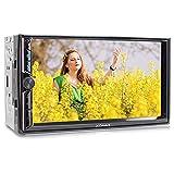 XOMAX XM-2V781 Radio de Coche I Autoradio con Bluetooth Manos Libres I Multi Colores de LED I 7' 18 cm Pantalla táctil I Mirroring de la Pantalla para Android I FM I SD USB I 2 DIN