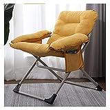 KTDT Tumbonas y sillones reclinables para jardín, Color Amarillo, Plegable, Ajustable, Tumbona, con otomana, sofá de Tela, Respaldo reclinable, Ajuste de 3 Posiciones, c313 (Color: sin reposapiés