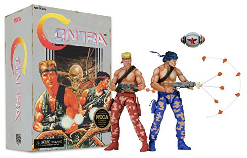 """NECA Contra Bill & Lance Video Game Appearance Action Figure (2 Pack), 7"""""""