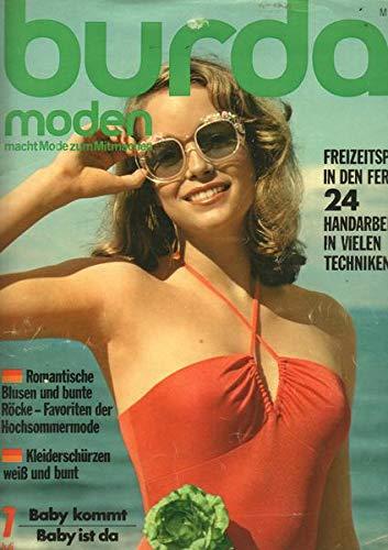 Burda Moden 07/1974 Kleiderschürzen weiß und bunt