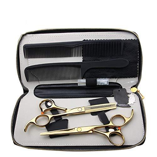 De 5,5-Inch Kapsel-Gereedschapsset Is Geschikt Voor Haartrimmers Van Huisstylisten, Luxe Zevendelige Gouden Tondeuses.