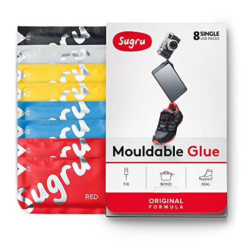 Sugru Moldable Glue - Original Formula - All-Purpose Adhesive, Advanced Silicone Technology - Holds up to 2 kg - Classic Colours 8-Pack