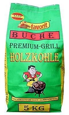 favorit 5500 Buchengrillholzkohle 5 kg Buchenholzkohle