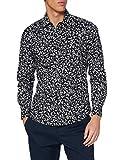 Replay M4040 .000.72150 Camisa , Multicolor ( 10 Negro Con Flores Blanca Naturales ) , M para Hombre