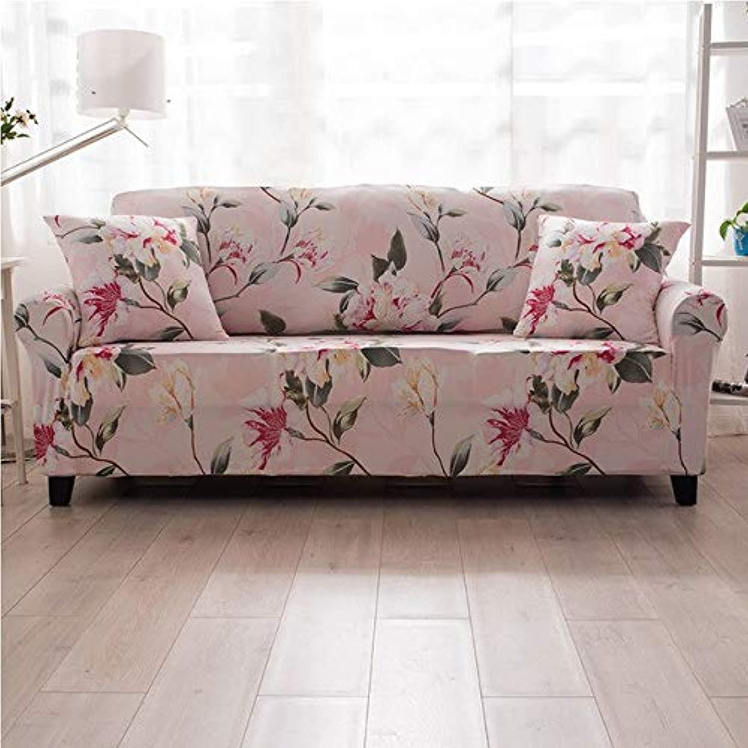 Elastic Sofa Cover Flower Geometric Slipcover Tight Wrap All-Inclusive Slip-Resistant Spandex Single Double Three Four Seat 003   G, Four seat