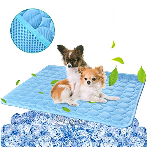 Pet Dog Cooling Mat Pad for Dogs Cats Ice Silk Mat Cooling Blanket