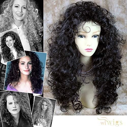 Perruque longue bouclée sexy pour femme - Noir et marron