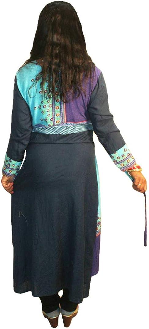 Lakkar Haveli Women's Long Kurtis Casual Girl's Maxi Ethnic Plus Size Till Color Frock Suit