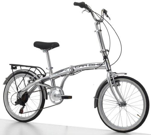 Cinzia Klapprad Car-Bike Alu 6-Gang Shimano, silber, Rahmenhöhe: 29 cm, Reifengröße: 20 Zoll (51 cm), 871736