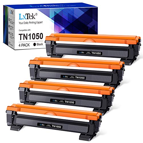 Photo of LxTek Compatible Toner Cartridges Replacement for Brother TN1050 TN-1050 TN 1050 use for Brother HL-1110 DCP-1510 DCP-1610W DCP-1612W HL-1112 DCP-1512 HL-1210W HL-1212W MFC-1910W MFC-1810 (4 Black)