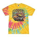 Ford Mustang Mach 1 Horse Power Classic Racing Tie Dye Cars and Trucks Tie-Dye T-Shirt, Aurora, Medium