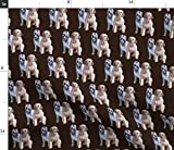 Spoonflower Fabric - Irish King Dogs Wolfhound Hounds Animals Pets Dog Lover Breed Ireland Printed on Lightweight Cotton Twill Fabric by The Yard - Sewing Bottomweight Fashion Apparel