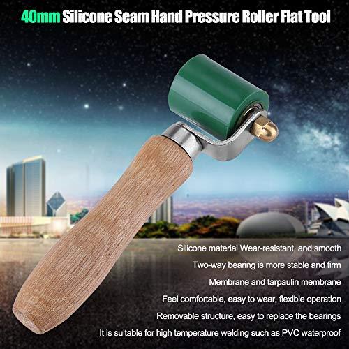 Akozon 40mm Silicon Seam Hand drukrol groen bestand tegen hoge temperaturen naad overkapping PVC lasgereedschap