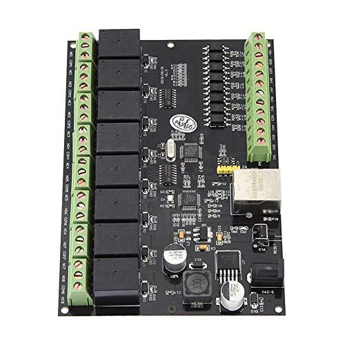 DC 9-24 V, ≥2 A Relais-Controller, 8-Wege-Netzwerk-Relais-Switch-Controller Ethernet-TCP/IP-Relais-Ein/Aus-Ausgang
