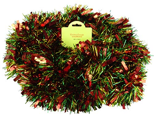 Red/Green/Gold Chunky/Fine Christmas Tinsel - 4 Metre -...