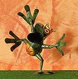 Trendshop-online Froschkönig Frosch aus Metall Gartenskulptur Gartenfigur Gartendeko 17 cm Eisen Blechfigur