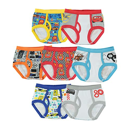 Toddler Boys Cars 7pk Underwear 4T
