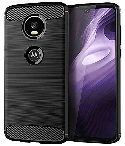 Moto Z4 Case,Moto Z4 Play Case,Moto Z4 Force Case, Asmart Shock Absorption Moto Z4 Phone Case Slim Thin TPU Bumper Cover Skin Soft Flexible Lightweight Protective Case for Motorola Moto Z4 Play,Black