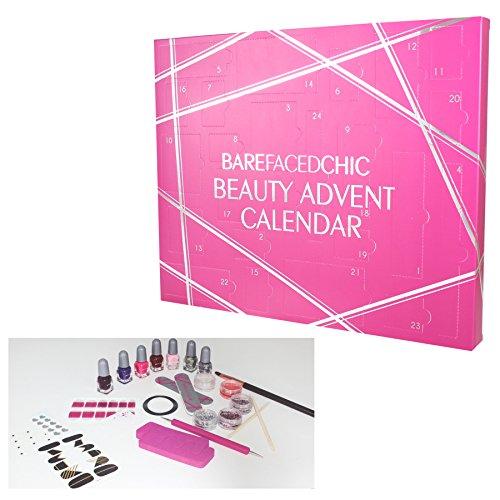 Beauty-Adventskalenderfür Weihnachten mitMake-Up-Set für Nägel und Lippen