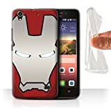 Hülle Für Huawei Ascend G620S Superheld-Helm Rot/Silber
