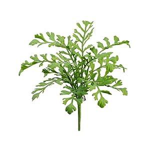 """Silk Flower Arrangements 17"""" Miller Fern Bush Green (pack of 12)"""