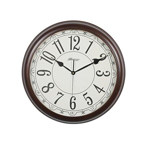 horloge murale Vintage, Grand Salon en Bois Grande Horloge Mute Chambre Montre de Poche Horloges de Restaurant Décorations 50 * 50CM (Taille : 50 * 50CM)