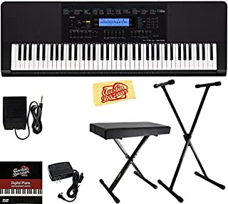 $279 » Casio WK-245 Workstation Keyboard Bundle with Adjustable Stand, Bench, Sustain Pedal, Power Supply, Austin Bazaar Instructional DVD, and Polishing Cloth