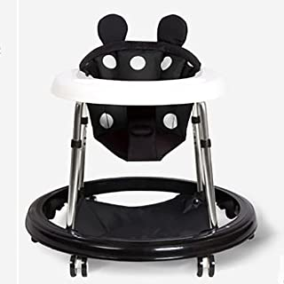 Baby Walker 2-in-1 Infant Baby Activity Walker Seated Or Walk-Behind Mute Anti-Rollover Baby Walker Avoid Bicycle Rollover...