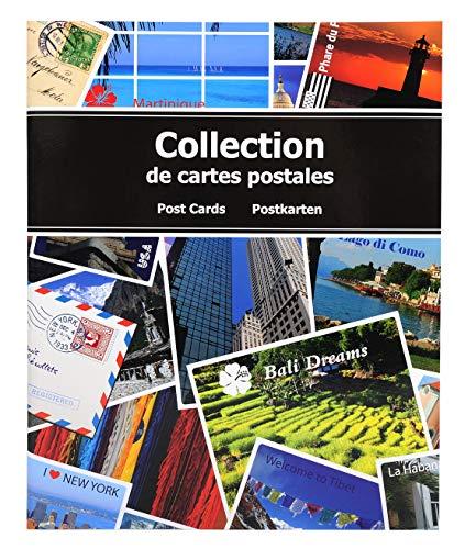 Exacompta - Réf. 96115E - Album de Collection pour 200 Cartes Postales - 20 x 25,5 cm - Bleu