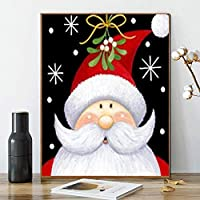 Kimily 数字によるDIYペイント 大人用 子供用 クリスマスペイント 数字によるDIYペイント アクリル絵画 数字の絵の具キット 自宅の壁 リビングルーム 寝室 装飾 クリスマス サンタクロース