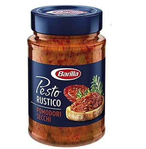Barilla Pesto Rustico Pomodori Secchi - Salsa italiana para tomates secos (200 g)