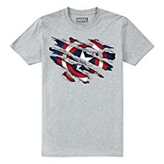 Marvel Captain America Torn Camiseta para Niños