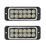 Laterales Luces 2 Piezas 6 LED Luz Indicadora Marcador Lateral 12V-24V Multifunción Universal Advertencia Luz-Accesorios para Camión Remolque Van Caravan Truck Lorry Car