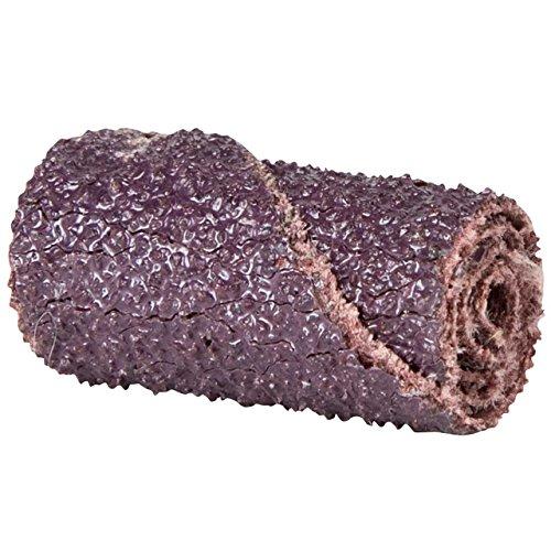 Merit Abrasive Cartridge Roll, Aluminum Oxide, 1/8' Arbor, Roll 1/2' Diameter x 1-1/2' Length, Grit 80 (Pack of 100)