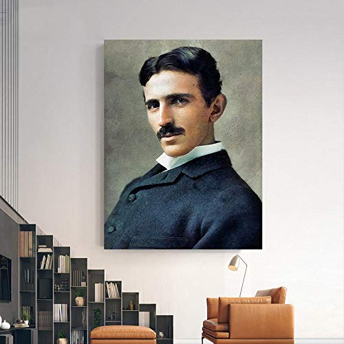 Fanxp® Nicholas Tesla Oil Art Holzpuzzle 1000 Stück, Entertainment Art Puzzles, für Home Decoration Art Gifts Jigsaw