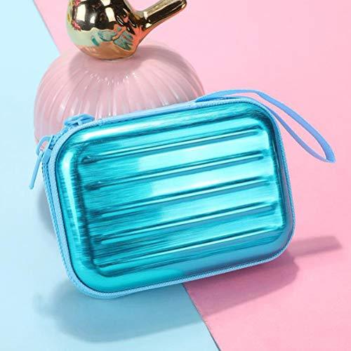 1 mini maleta con forma de hojalata y monedero, bolsa cuadrada, mini bolsa de almacenamiento para tarjetas de crédito, tarjetas de identificación, llaves, auriculares, lápiz labial