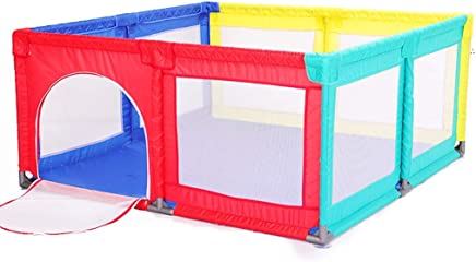 WJSW 150x150cm Baby Playpen Toddler Play Fence 70cm Safety Height Anti-fall Kid s Safety Activity Center Indoor Outdoor